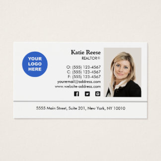 Photo logo business cards business card printing zazzle uk add photo and logo real estate professional business card colourmoves