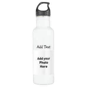 Add Photo and Text to this Water Bottle