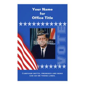 Add Photo Campaign Political Template 14 Cm X 21.5 Cm Flyer