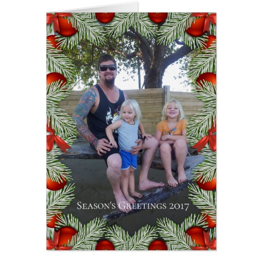 Add Photo Custom Picture Frame Christmas Card