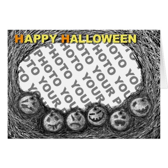 Add Photo Halloween Card Pumpkin Head 1