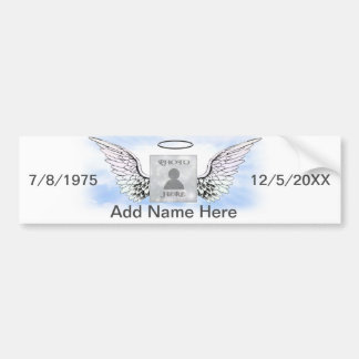 Add Photo | Memorial Wings Bumper Sticker