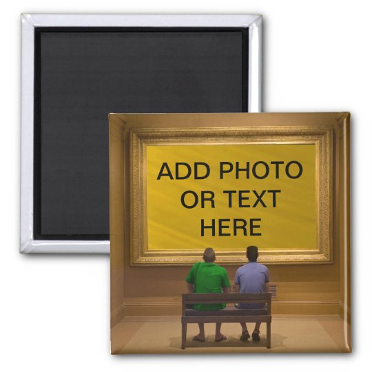ADD PHOTO OR TEXT--MAGNET SQUARE MAGNET