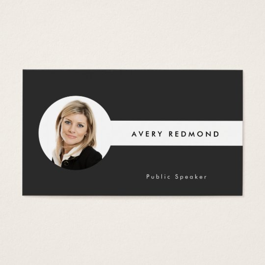 Add Photo Template Professionals Black and White Business