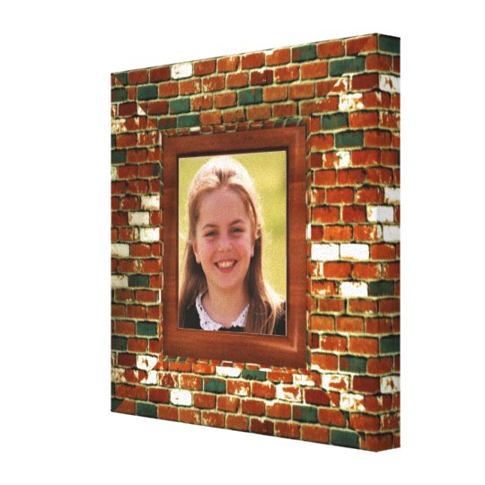 Add photo to Brick illusion  wrapped canvas print