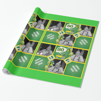 Add Photo To Tractor Wrapping Paper