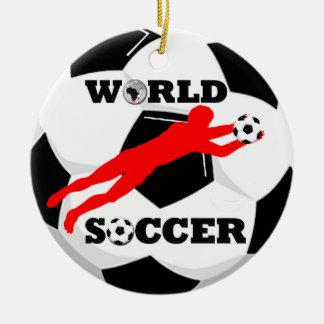 Add Photo World Soccer Ornament
