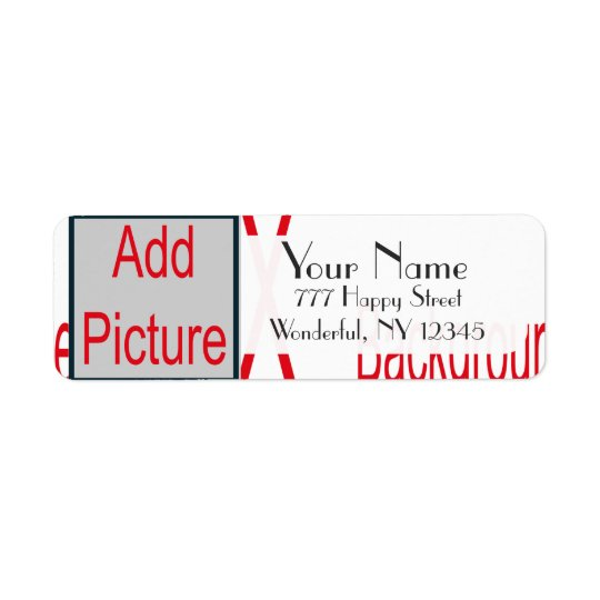Add Picture Address Label Template