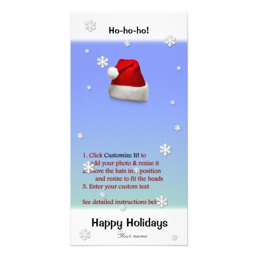 Add Santa's Hat to your photo (directions below) Photo Cards