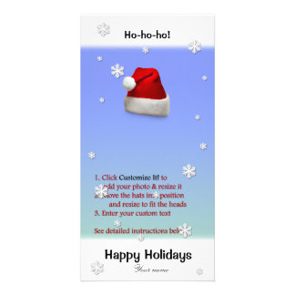 Add Santa's Hat to your photo (directions below) Photo Card Template