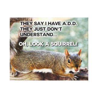 ADD Squirrel Photo Canvas Print