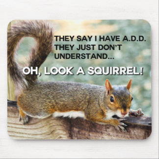 ADD Squirrel Photo Mouse Mat
