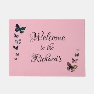 Add Surname, Butterfly Doormat
