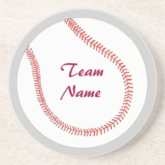 Add Team Name Baseball Coasters