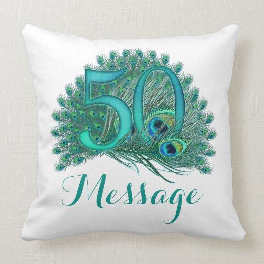 Add text 50th Birthday personalised custom Pillow