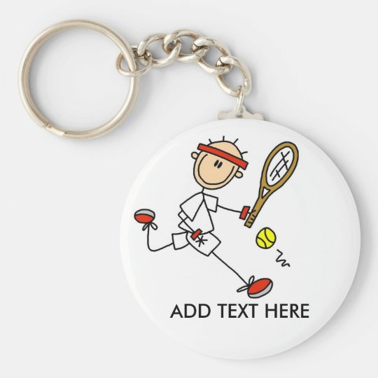 Add Text Customisable Tennis Keychain