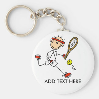 Add Text Customizable Tennis Keychain