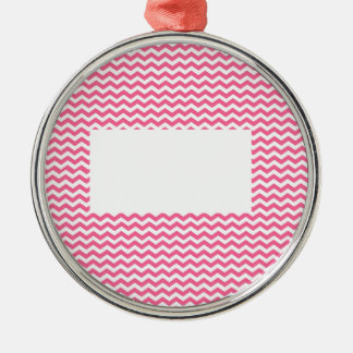 add text or image to this pink chevron christmas ornament