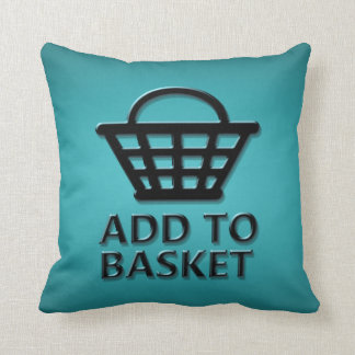 Add to basket concept. cushion