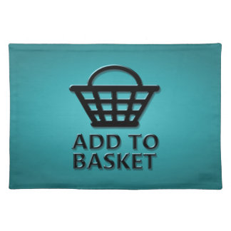 Add to basket concept. placemat