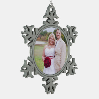 Add Wedding photo or others Christmas Oranment Pewter Snowflake Decoration