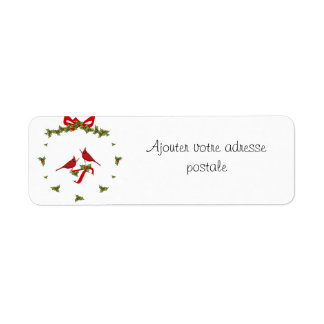 Add your address to this label of Christmas