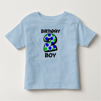 Add Your Child's Name 2nd Birthday Boy Shirt