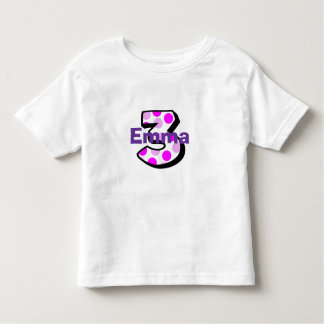 Add Your Child's Name 3rd Birthday Shirt