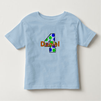 Add Your Child's Name 4th Birthday Shirt