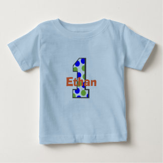 Add Your Child's Name First Birthday Boy Shirt