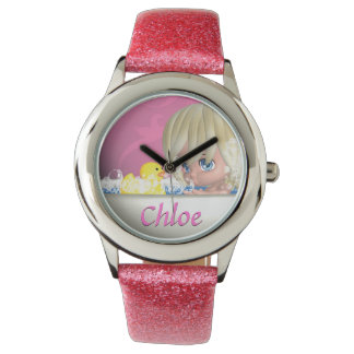 Add Your Childs Name / Glitter Watch