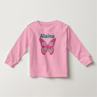 Add your Childs Name to this Butterfly Shirt