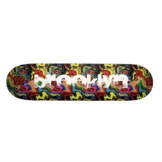 Add Your City Graffiti Abstract Skateboard Deck