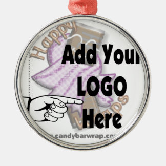 Add Your Company LOGO as Client or Employee Gifts Christmas Ornament