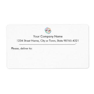 Add your Custom Logo custom Business address Shipping Label