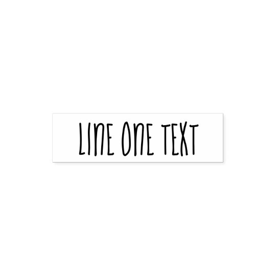 Add your favourite Text - One Line Handwritten Self-inking Stamp