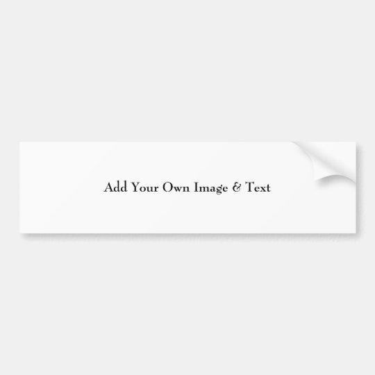 Add Your Image Bumper Sticker