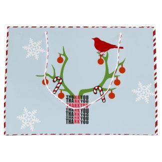 Add Your Image/Logo Reindeer Antlers Christmas Large Gift Bag
