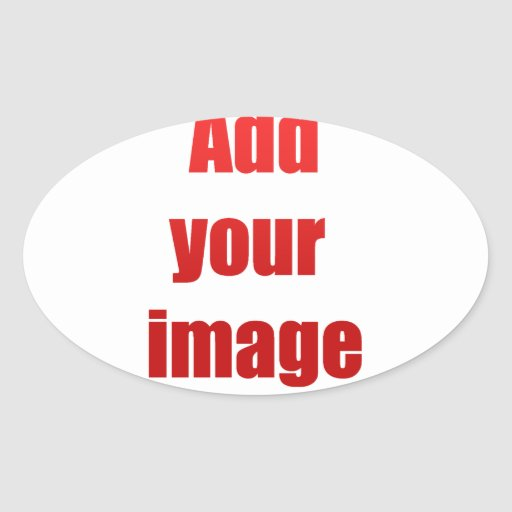 Add your image to customize oval stickers
