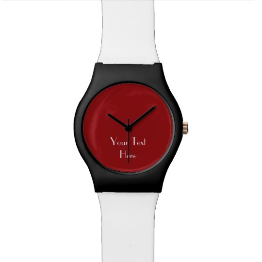 Add Your Image, Your Text, Custom Watch
