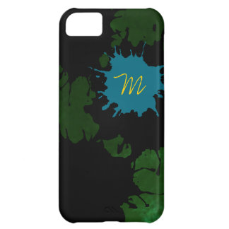 add your initial to the splashes iPhone 5C case