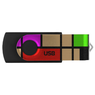 add your initials, Mondrian new style USB Flash Drive