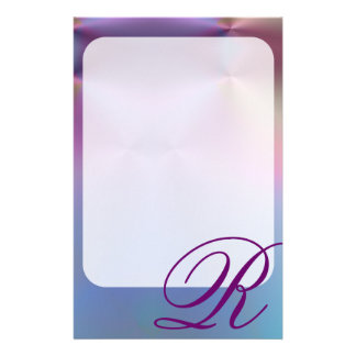 Add your letter - colorful monogram stationery