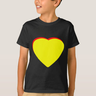 Add Your Lettes Here Heart Yellow Red The MUSEUM Tshirt