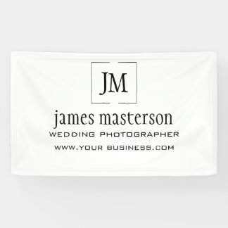 Add Your Logo   Monogram Minimalist Professional Banner