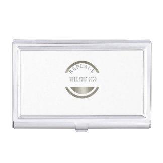 ADD Your LOGO PHOTO BRAND Professional Elegant Business Card Holder