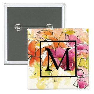 Add Your Monogram   Pattys Plum 15 Cm Square Badge