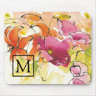 Add Your Monogram   Pattys Plum Mouse Pad