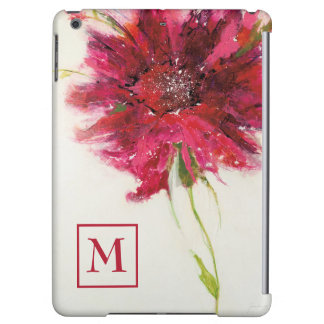 Add Your Monogram | Pink Daisy on White
