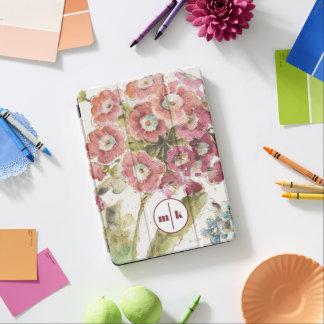 Add Your Monogram | Pink Primrose iPad Air Cover